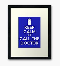 Doctor Who: Keep Calm Framed Print