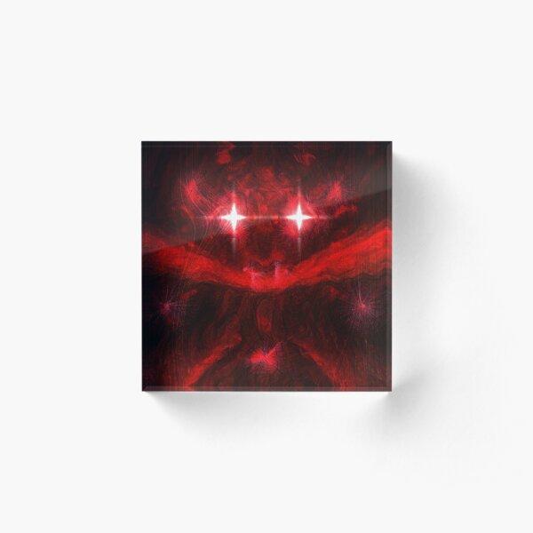 Red Acrylic Block