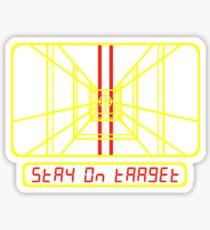 Stay on Target Sticker