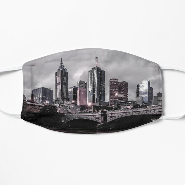 Melbourne Skyline and the Princes Bridge Flat Mask