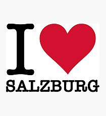 I Love Salzburg Photographic Print
