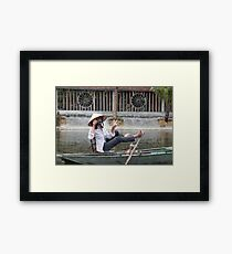 Vietnamese Photographer Boat Lady  Framed Print