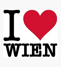 I Love Vienna Photographic Print