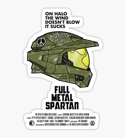 Full Metal Spartan Sticker