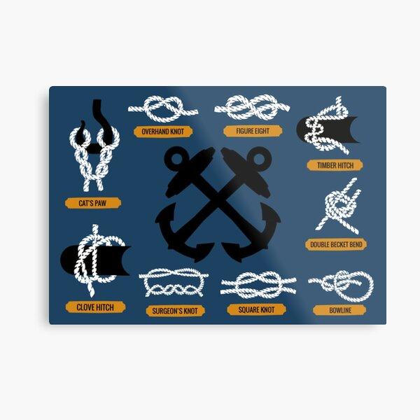 Knot Board  Metal Print