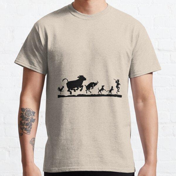 Farm Anilmals Silhouette Chicken Pig Cow 2-6 Years Old Boys /& Girls Short Sleeve T-Shirt