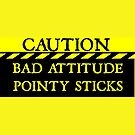 Caution--Bad Attitude, Pointy Sticks ... by Wightstitches