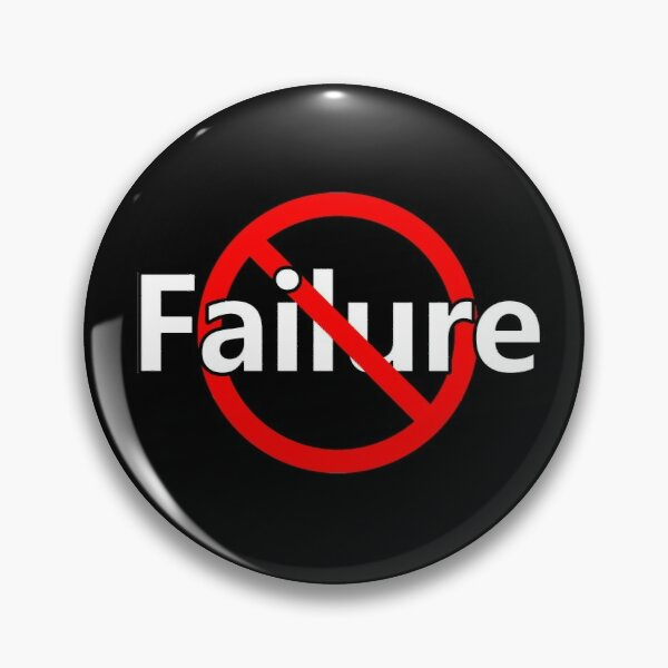 No Failure - Positive Mindset - Victory Pin