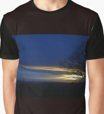 First Day Sunset Graphic T-Shirt