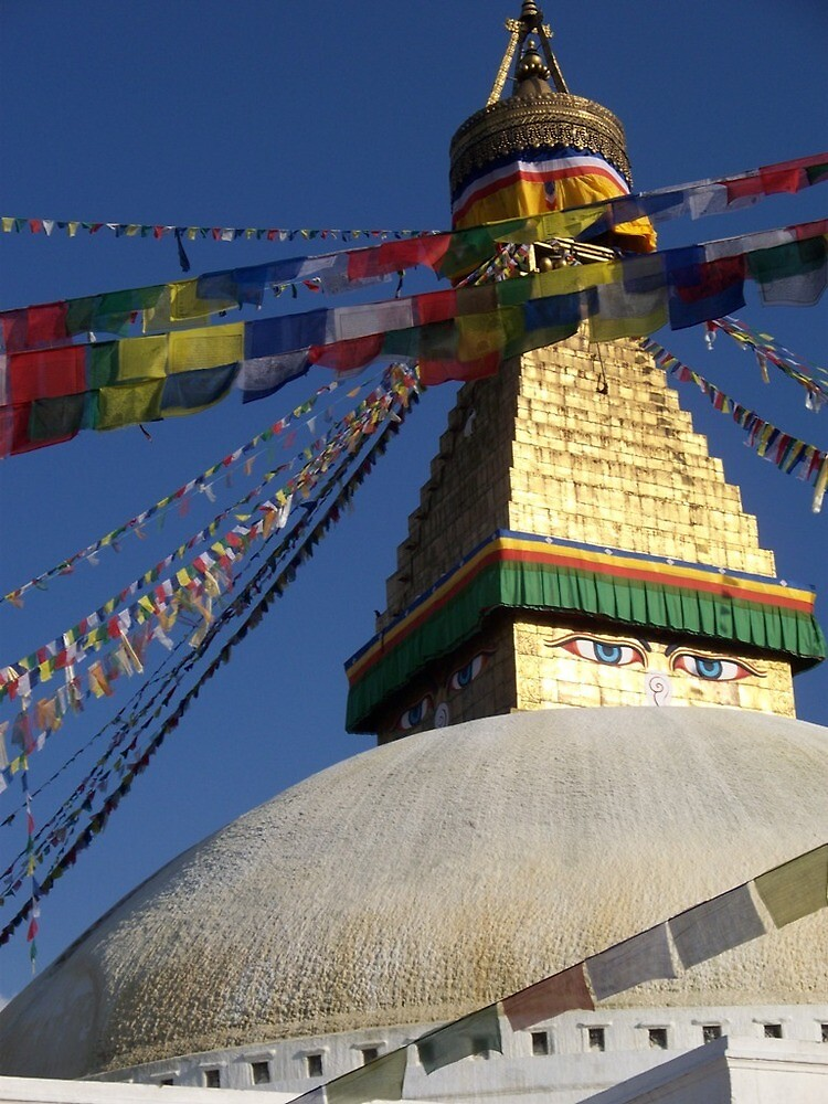 Boudhanath Stupa by Angie Spicer