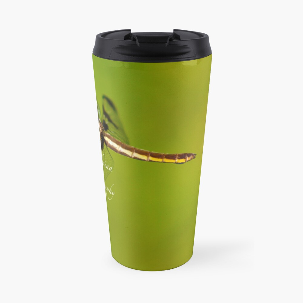 Dragonfly of the enchanted forest by Yannis Lobaina  Travel Mug