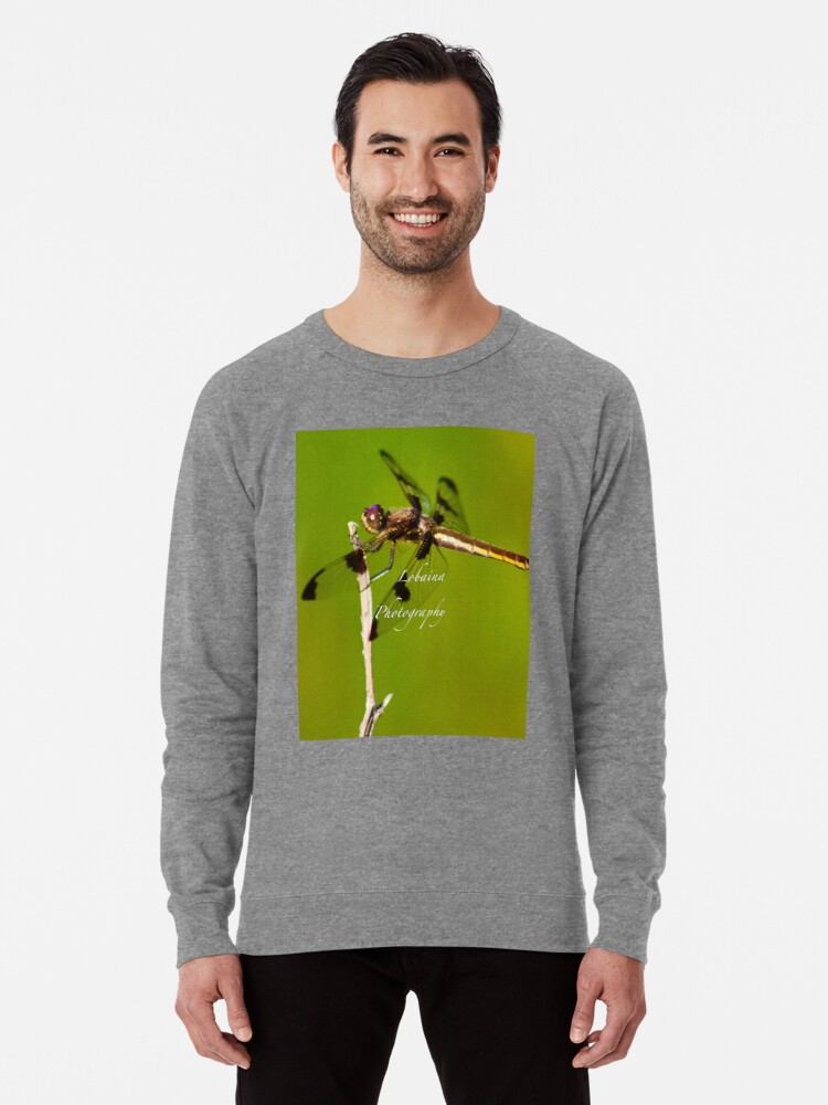 Alternate view of  Dragonfly of the enchanted forest by Yannis Lobaina  Lightweight Sweatshirt