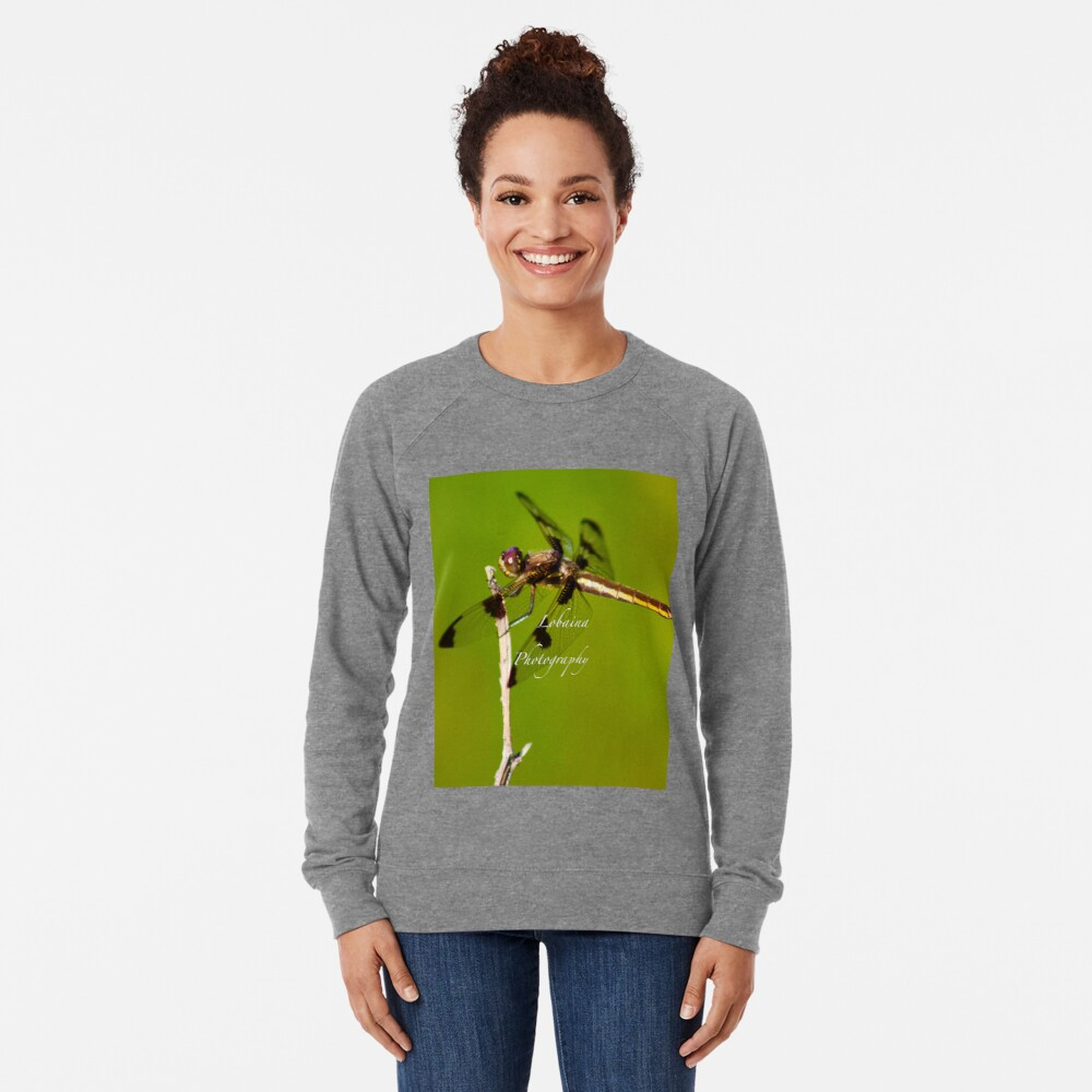 Dragonfly of the enchanted forest by Yannis Lobaina  Lightweight Sweatshirt