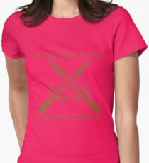 Riften - Someone Stole My Sweetroll! Womens Fitted T-Shirt