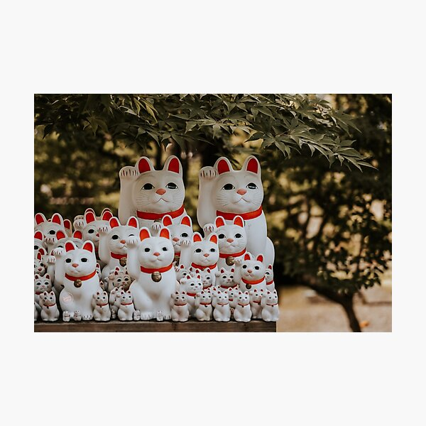 Good Luck Cats at Gotokuji Temple, Tokyo Photographic Print