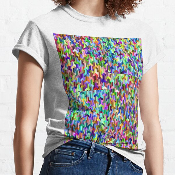 Visual Psychedelic Art, Easy Optical ILLusion Tessellation Classic T-Shirt
