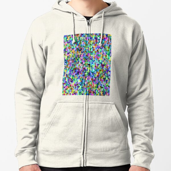Visual Psychedelic Art, Easy Optical ILLusion Tessellation Zipped Hoodie