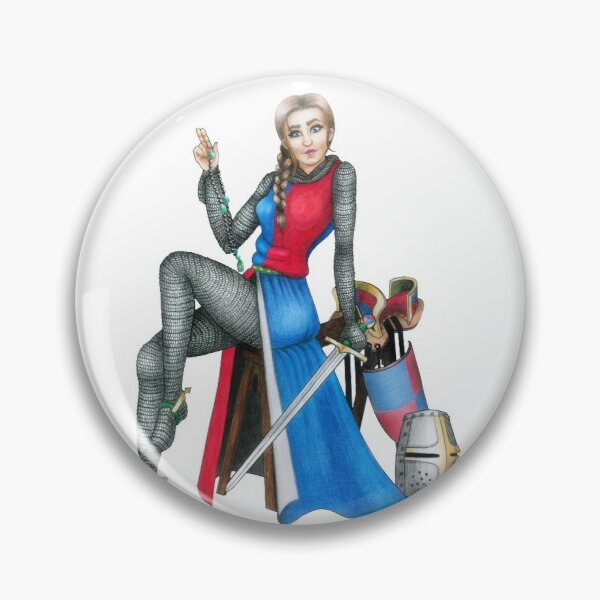 Crusades Chick Pin Up Girl Pin