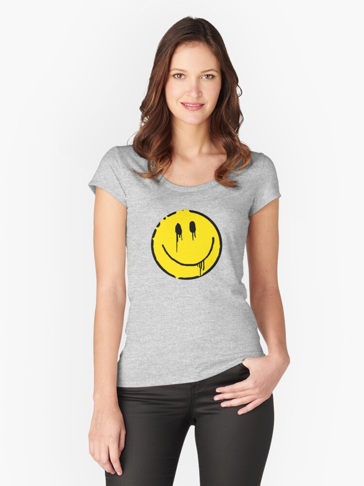 smile Women's Fitted Scoop T-Shirt Front