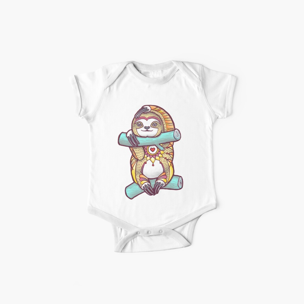 Mandala Sloth Baby One-Piece