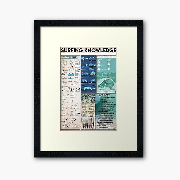 Surfing Knowledge Framed Art Print
