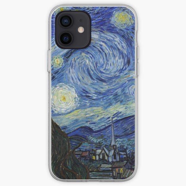 Nuit étoilée - Vincent Van Gogh Coque souple iPhone
