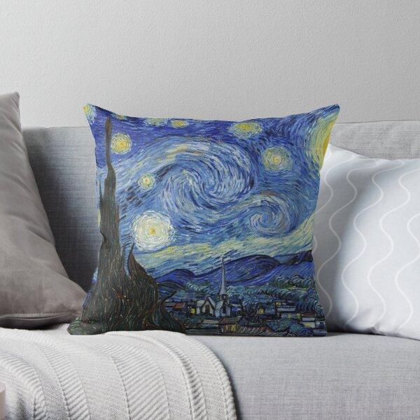 Starry Night - Vincent Van Gogh Throw Pillow