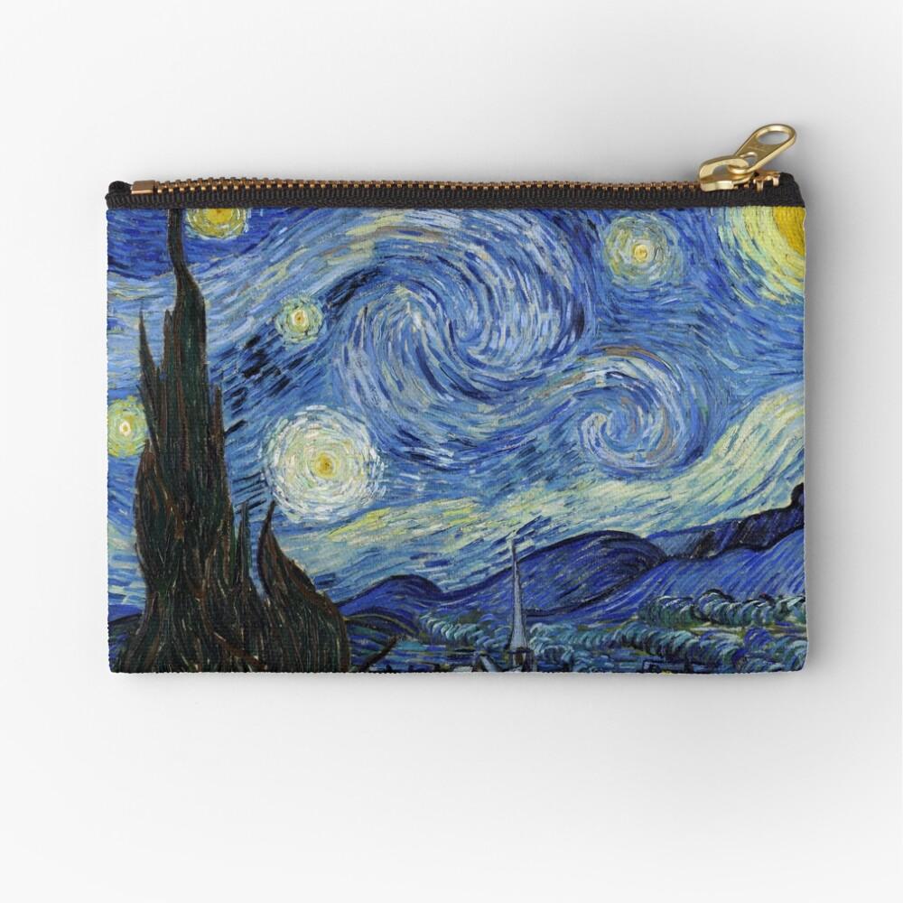 Starry Night - Vincent Van Gogh Zipper Pouch