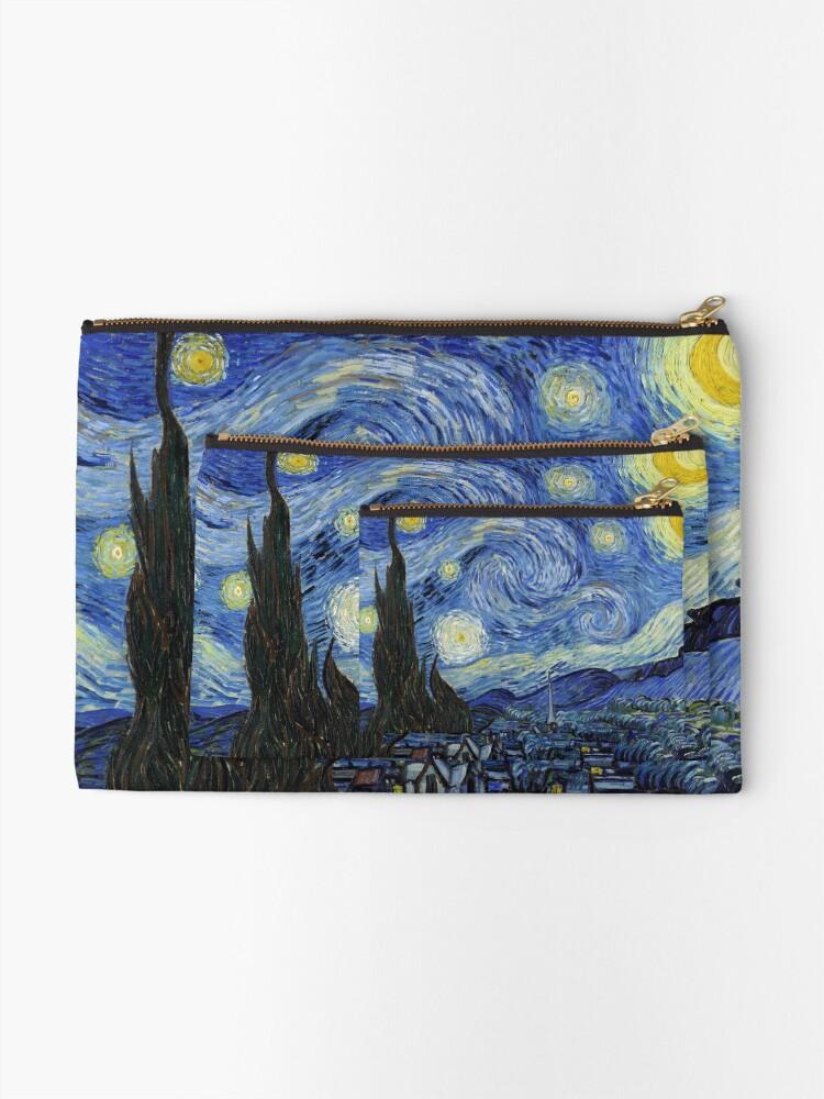 Alternate view of Starry Night - Vincent Van Gogh Zipper Pouch