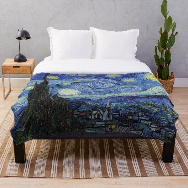 Starry Night - Vincent Van Gogh Throw Blanket
