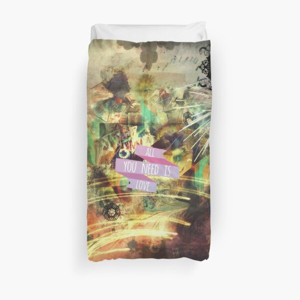 Love message Duvet Cover