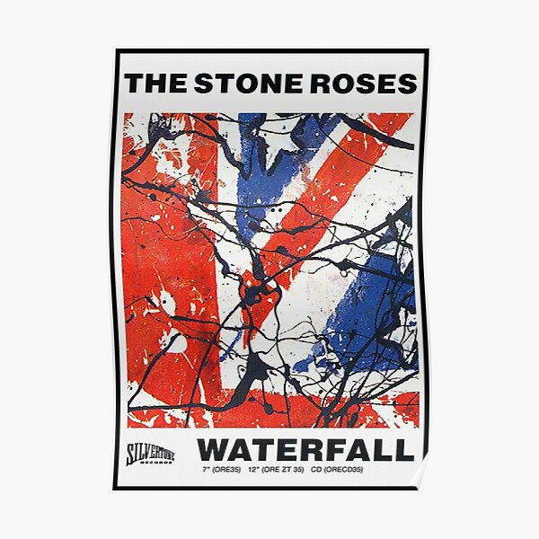 waterfall roses Poster
