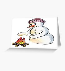 Freezing Snowman Greeting Card