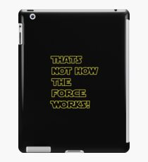 Han Solo Quote, The Force Awakens  iPad Case/Skin