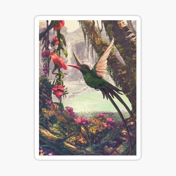 Black-headed hummingbird Sticker