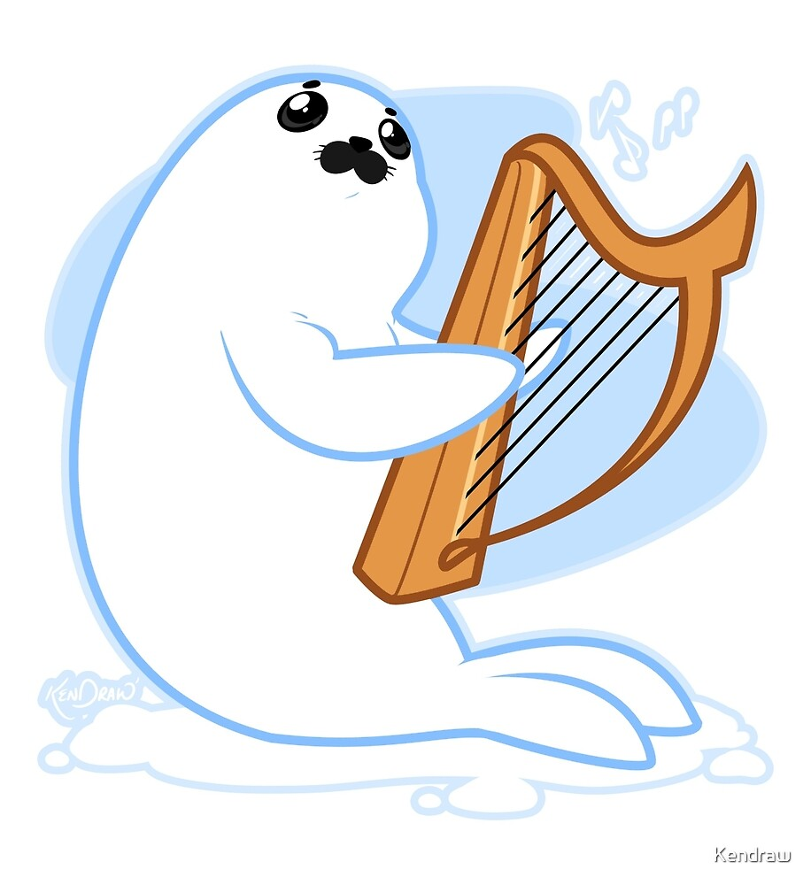 Baby Harp Seal by Kendraw