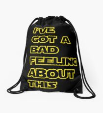 Star Wars Quote  Drawstring Bag