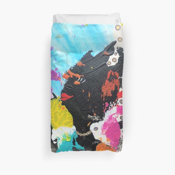 Abstract lady  Duvet Cover