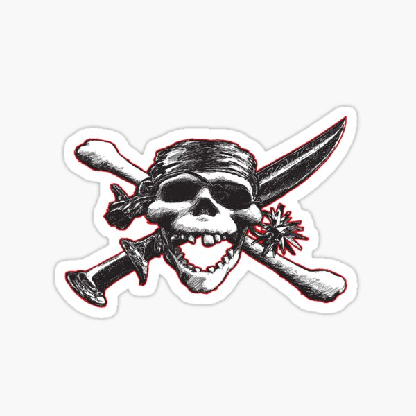 windsurfing pirate Sticker