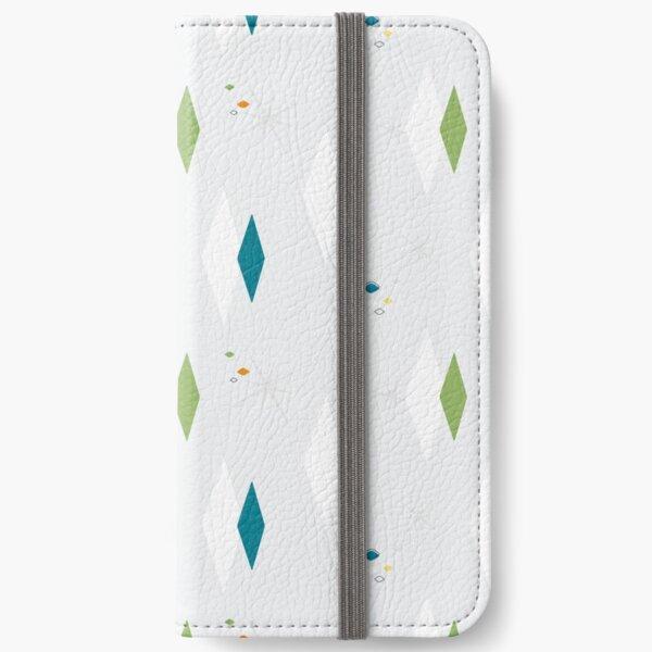 Splendette Mid Century Diamonds Teal iPhone Wallet