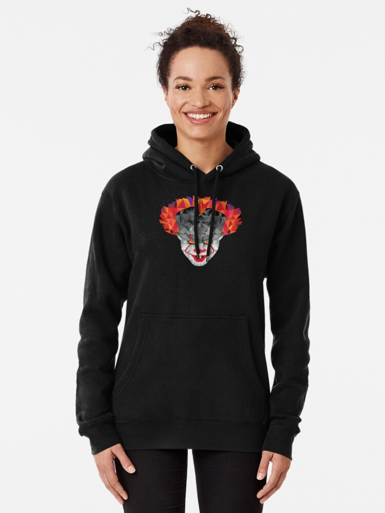 Alternate view of Scary Clown Design Pullover Hoodie