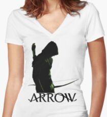 Arrow Hero Women's Fitted V-Neck T-Shirt
