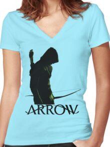 Arrow Hero Women's Fitted V-Neck T-Shirt