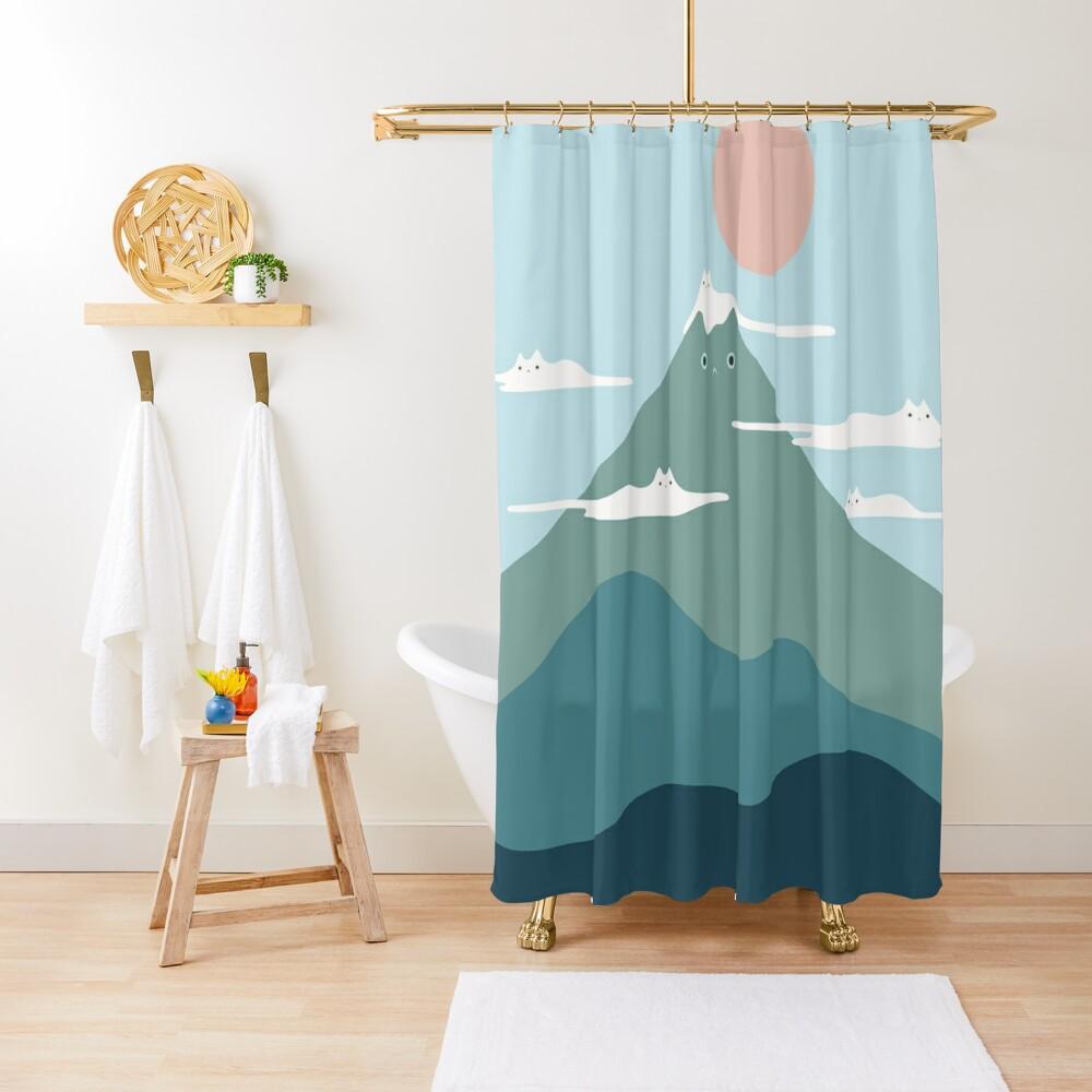 Cat Landscape 72B Shower Curtain