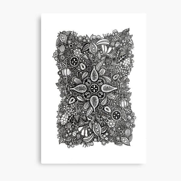 Hedgegrow Metal Print