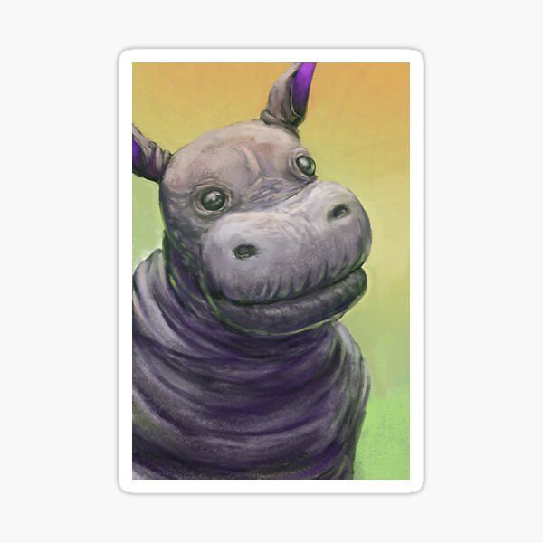 This hippo took too much! Sticker