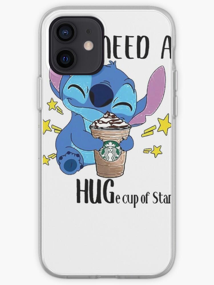 Stitch j'ai besoin d'une énorme tasse de Starbucks | Coque iPhone
