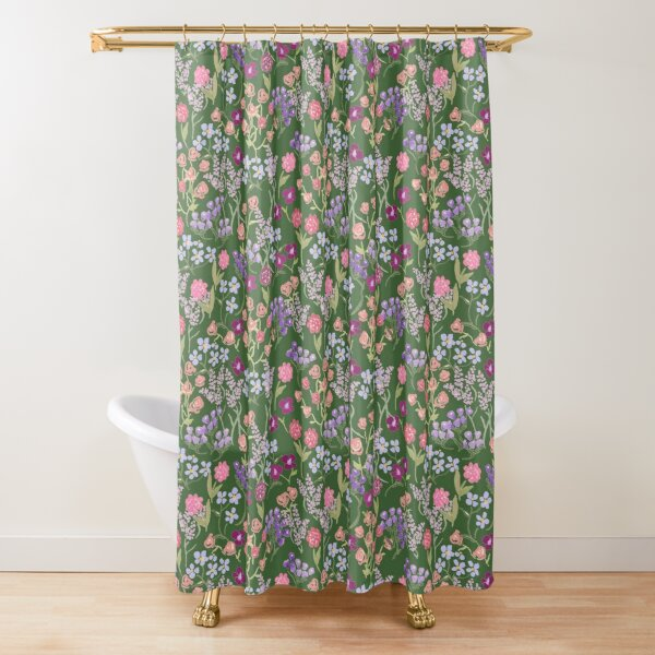 Imaginary Garden in Green by Tea with Xanthe Shower Curtain