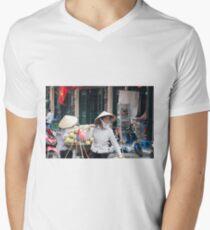 Vietnam Street Sellers Vendors V-Neck T-Shirt