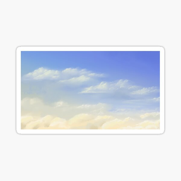 Nuages dans le ciel Sticker